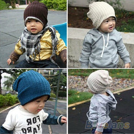 Unisex Baby Boys Girls Children Infant Toddler Beanie Hat Warm Winter Cap - KidsJoyful