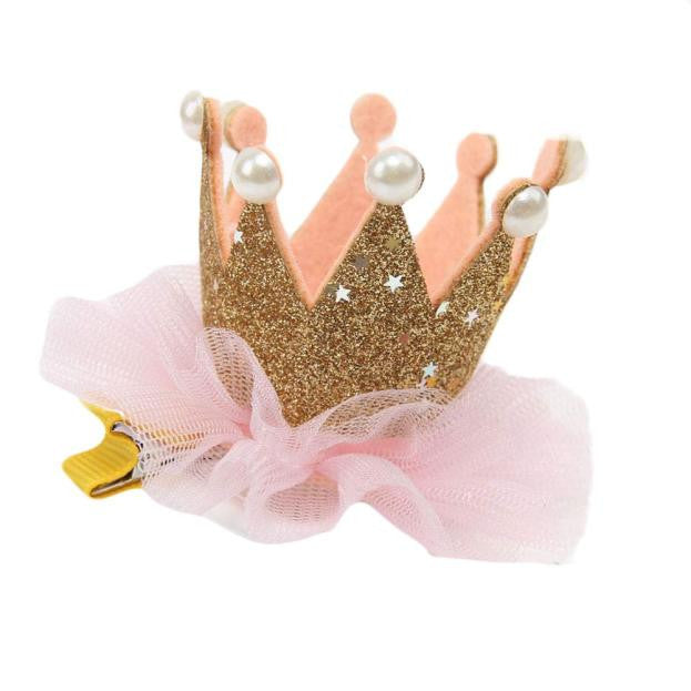 Baby Girl Flower Crown Hair Clip - kidsstoreefw