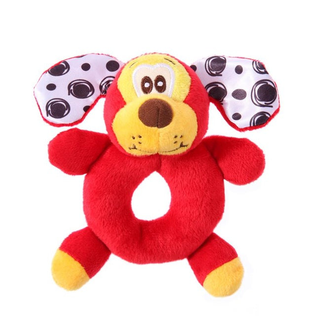 Newborn Plush Animal Handbell Rattle - kidsstoreefw