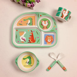 Cute Bamboo 5 Pcs/Set Tableware Set - kidsstoreefw