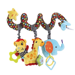 TOYMYTOY Infant Baby Activity Spiral Bed & Stroller Toy Monkey Elephant Educational Plush Toy - kidsstoreefw
