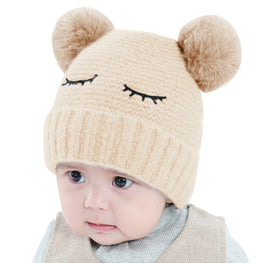 Novelty Winter Beanie With Faux Fur - kidsstoreefw