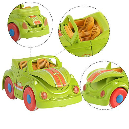 2 Pieces Friction Powered -Mini CarToy For Kids & Toddlers - KidsJoyful