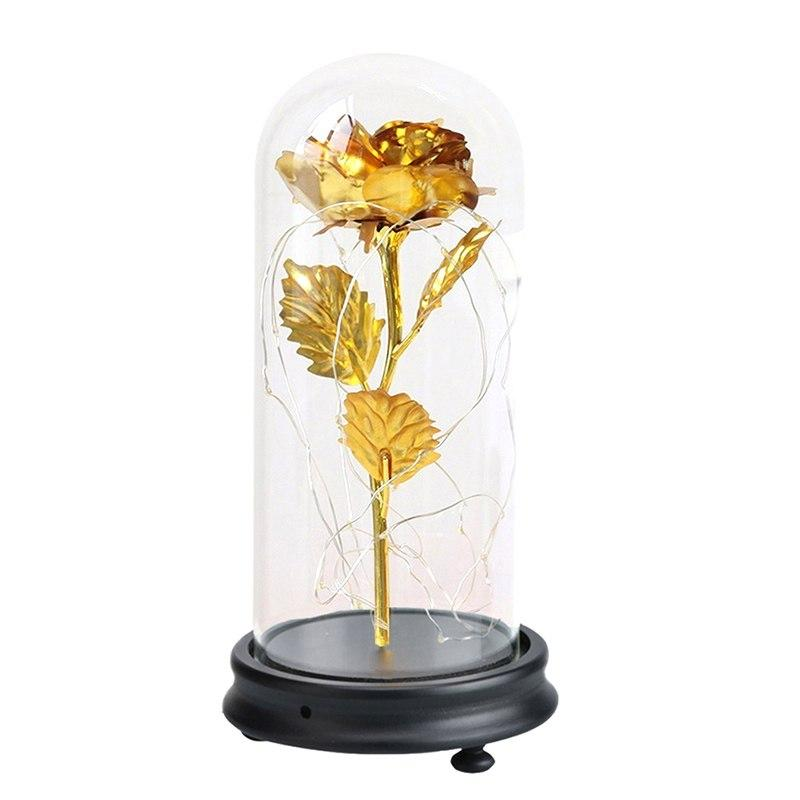 Enchanted Rose LED Glass Display (22 Designs)