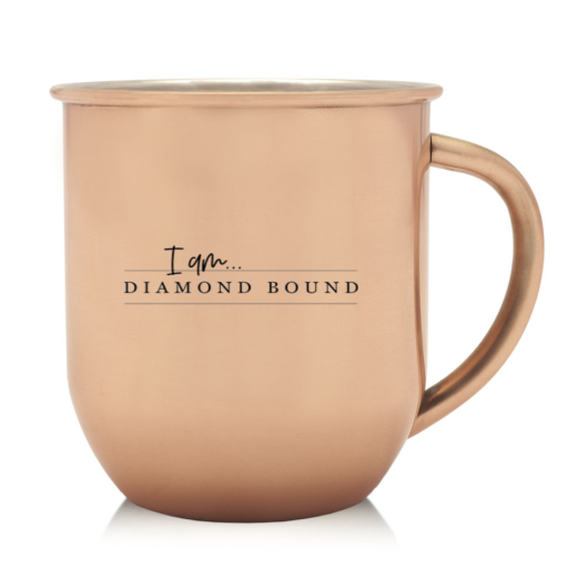 Diamond Bound copper mug