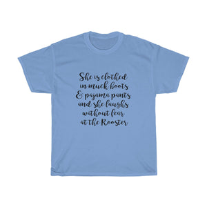 Unisex She is clothed in muck boots T-Shirt