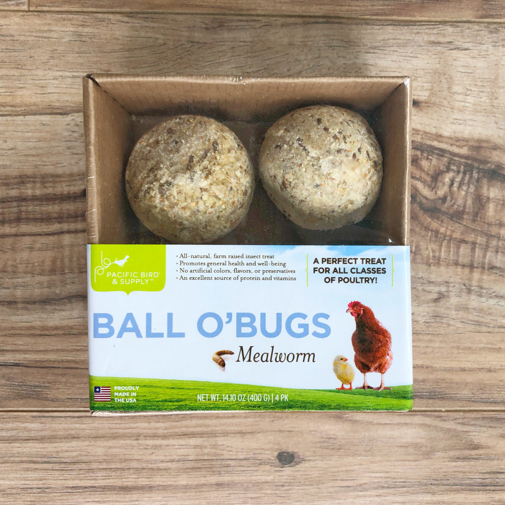 Backyard chicken treat Gourmet chicken grub: Ball O'Bugs Mealworm
