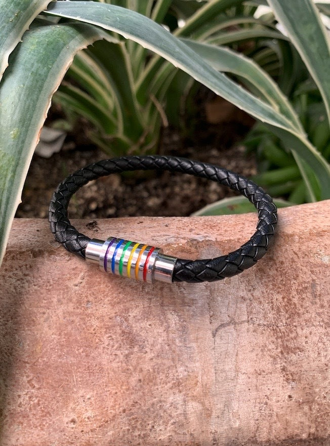 Empowered Pride Bracelet - Black/Silver