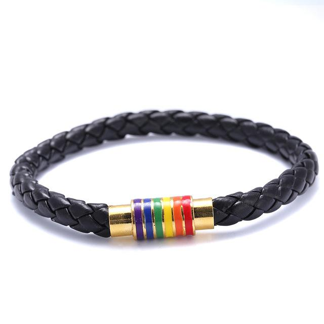 Empowered Pride Bracelet - Gold/Black
