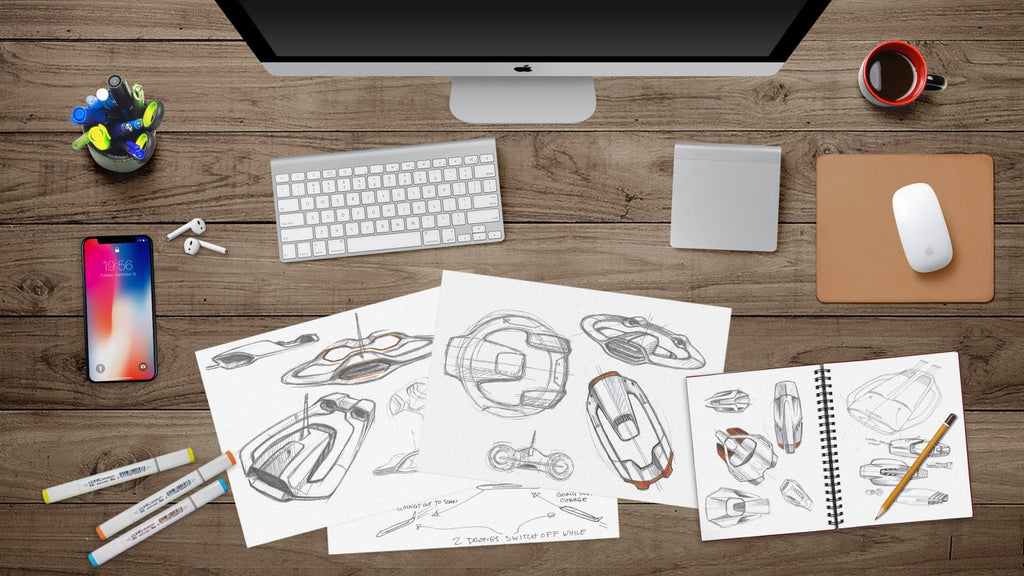 Sprout studios microplastic-sensing drone sketches