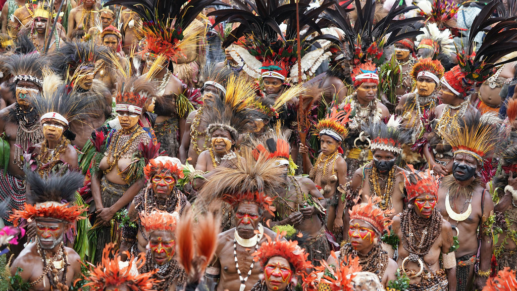 Performers at a tribal dance event in Papua New Guinea