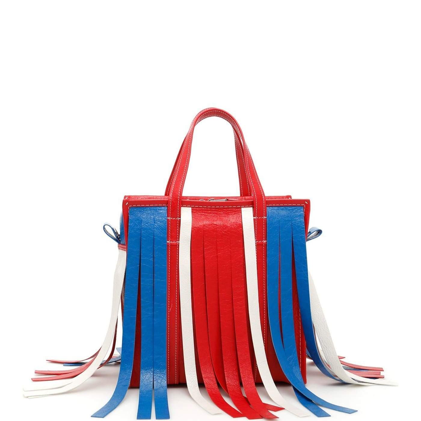 ec5ee9a821fa3 Balenciaga small multicolor leather bazar fringe tote bag - Funky Town  Clothing