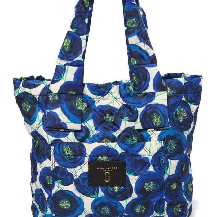 7f33a5e3c ... Marc Jacobs Knot Quilted Tote Bag Nylon Exterior BLUE MULTI MSRP $225