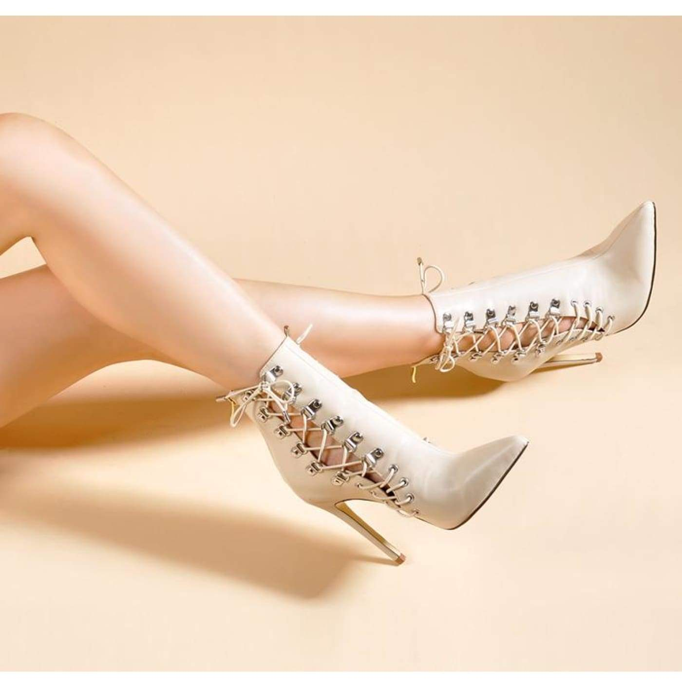 360133f423a Funky Town Clothing - Pink Palms Shoes Women Lace-up Sexy Spring ...