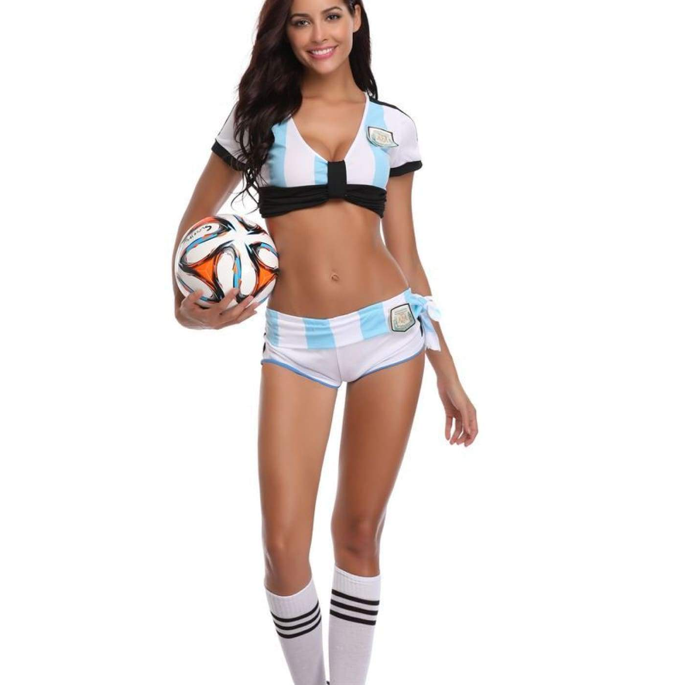 8b9ac58f84b Funky Town Clothing - Women Sexy Football Girl Costume Sport ...