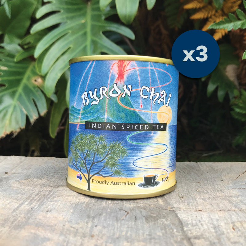 Byron Chai Indian Spiced Tea 3x100g Cans