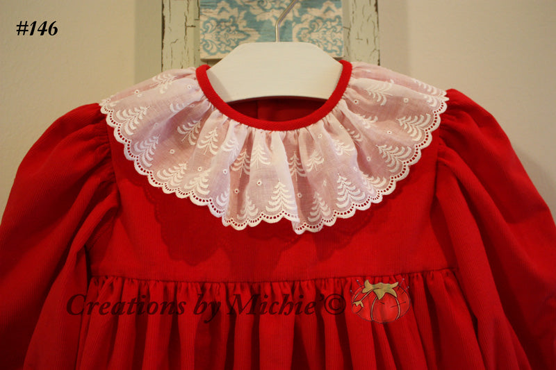Holiday Dress With Swiss Edging