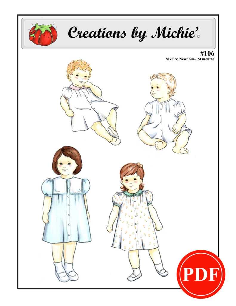 106 - Printable Sailor Dress