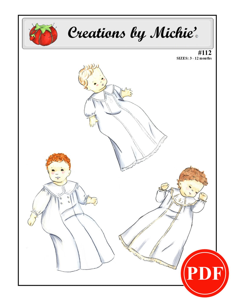 112 - Printable Boys Christening Gown