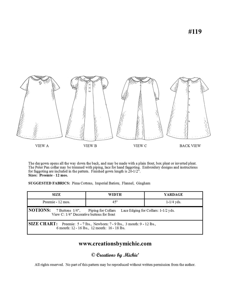 119 - Printable Daygown
