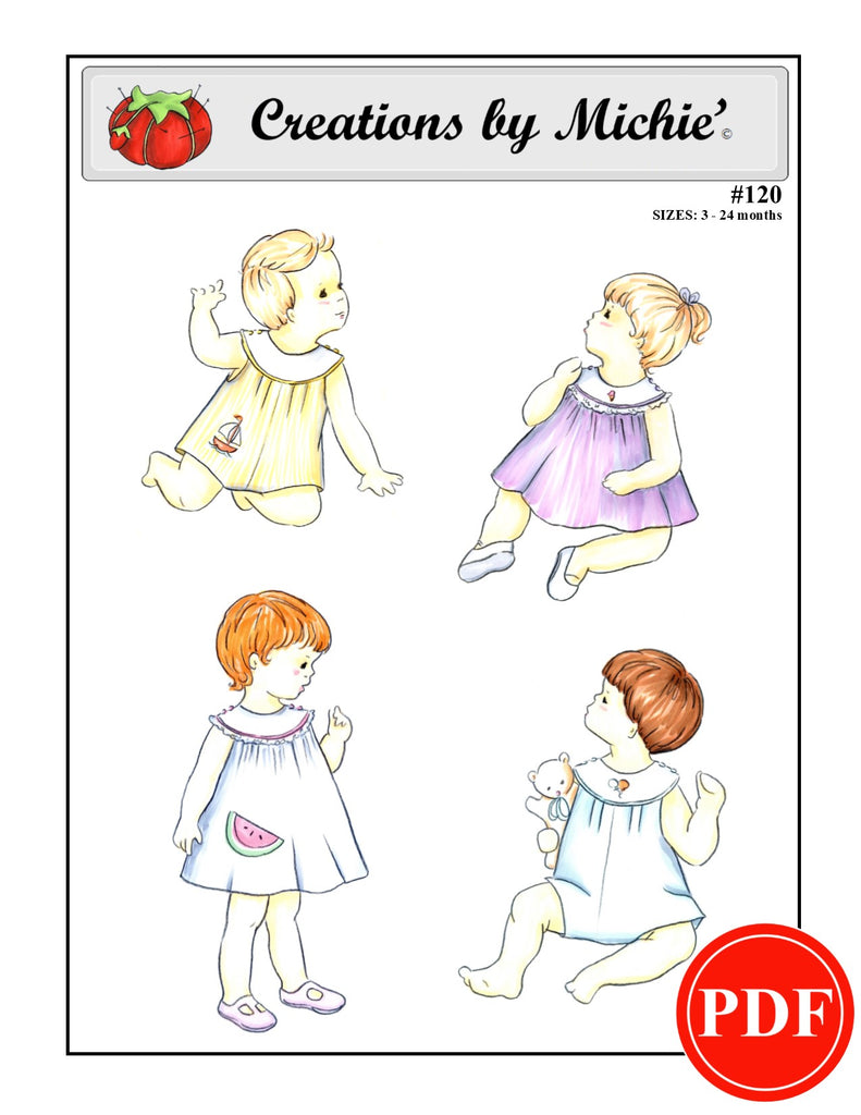 120 - Printable Sunsuit or Dress