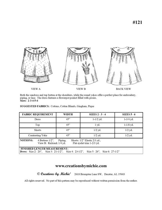 121 - Printable Sundress and Shorts Set