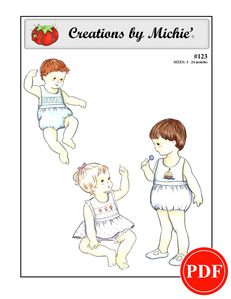 123 - Printable Baby Playsuit