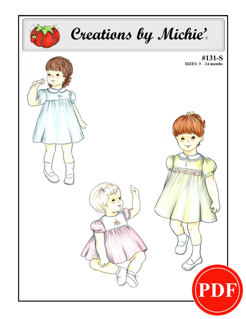 131-S - Printable Classic Dress Small