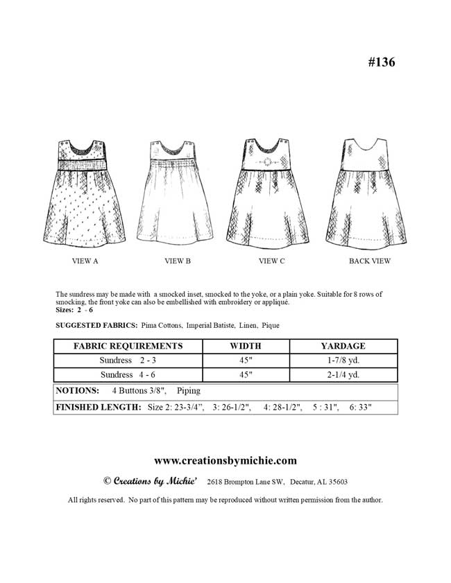 136 - Printable Sundress