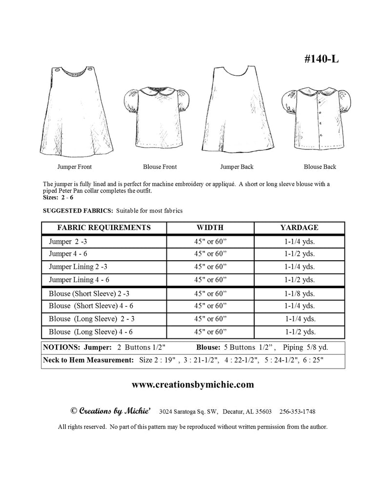 140-L - Printable Jumper & Blouse Large
