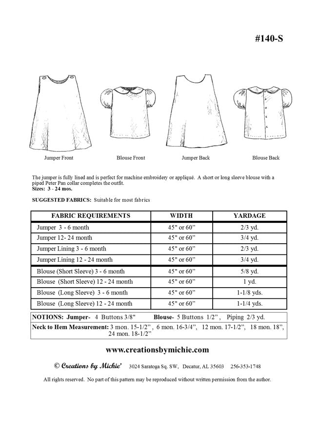 140-S - Printable Jumper & Blouse Small