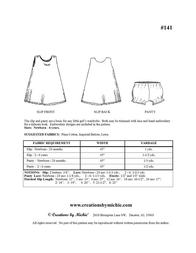 141 - Printable Slip and Panty