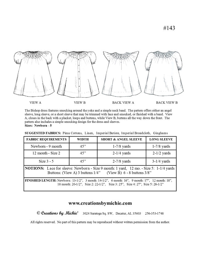 143 - Printable Bishop Dress