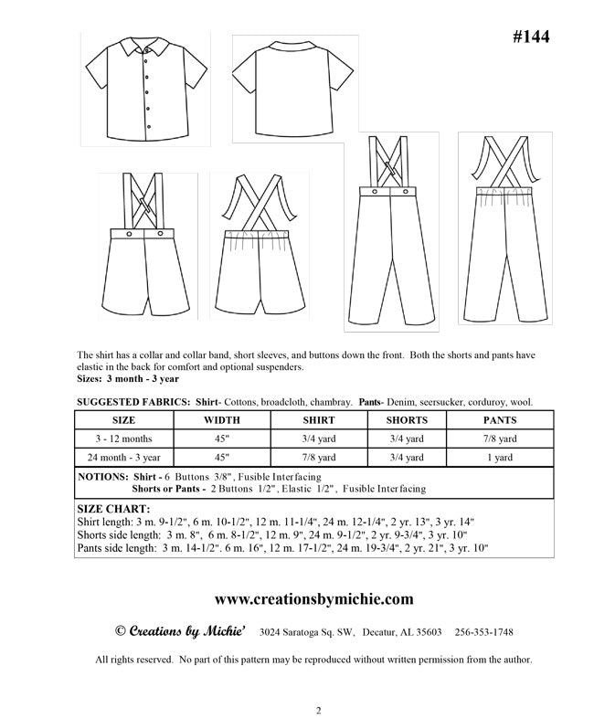 144 - Printable Shirt, Pants, & Suspenders