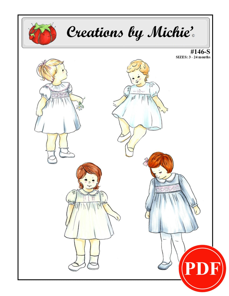146-S - Printable Girls Dress Small