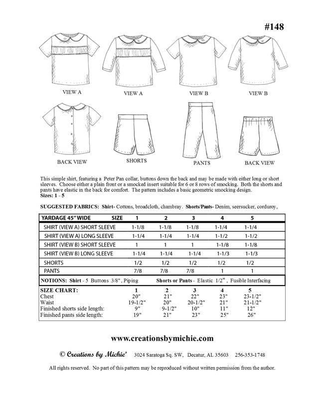148 - Printable Simple Shirt & Shorts