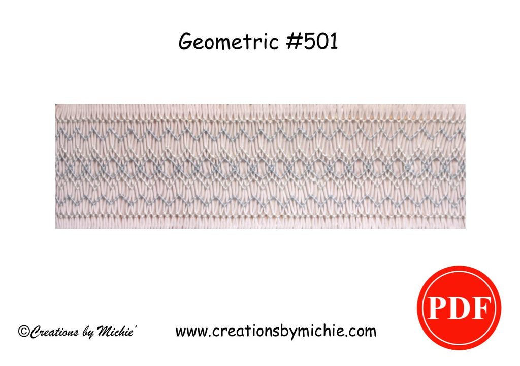 Printable Geometric Smocking Design – 501