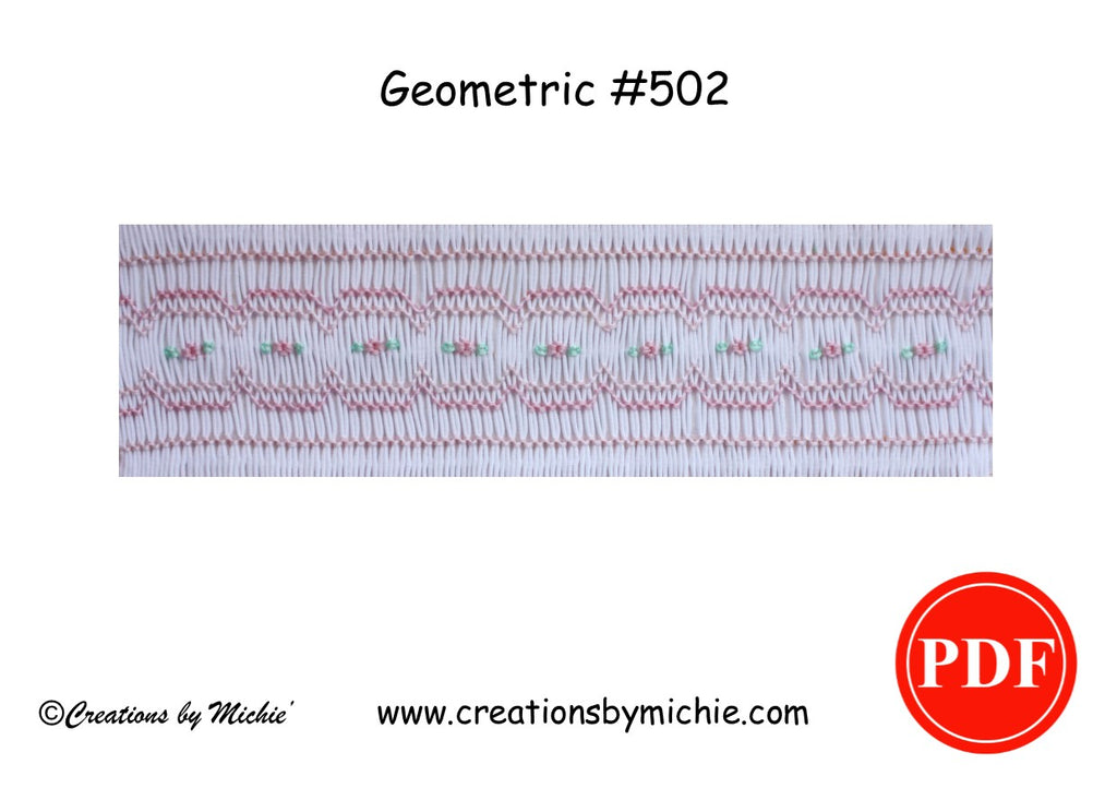 Printable Geometric Smocking Design – 502