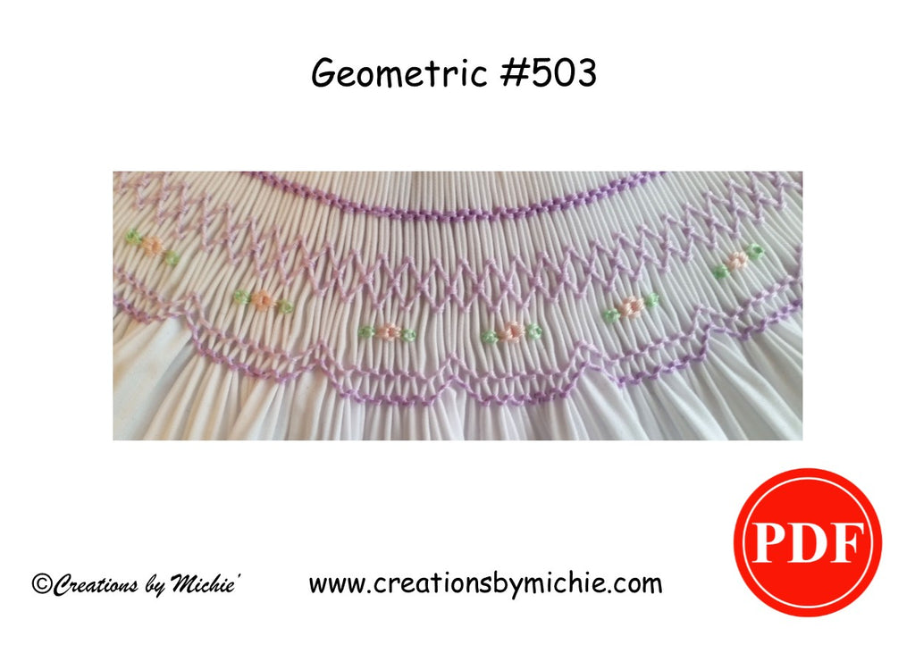 Printable Geometric Smocking Design – 503
