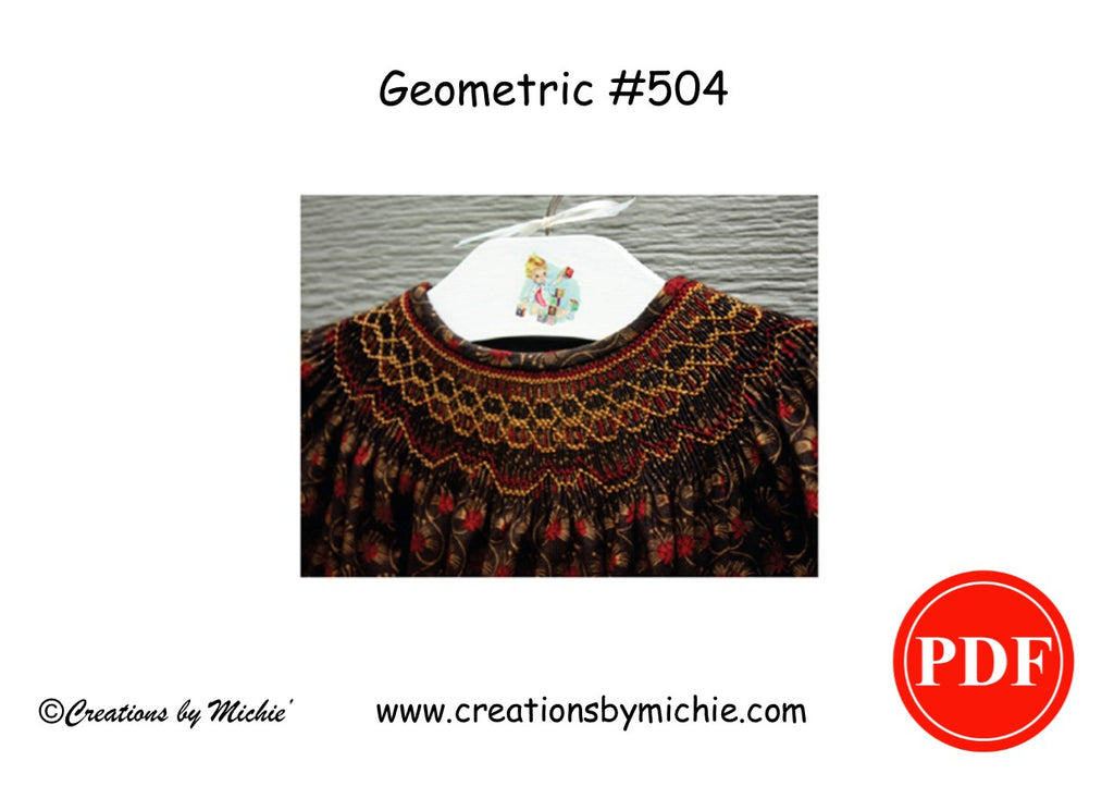 Printable Geometric Smocking Design – 504