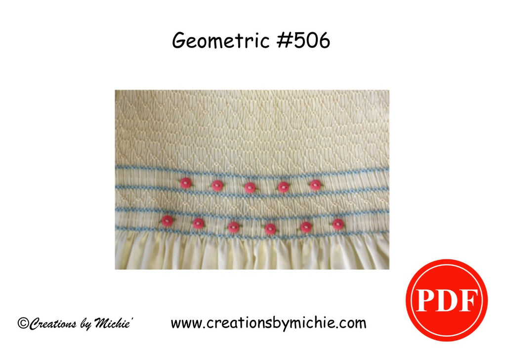 Printable Geometric Smocking Design – 506