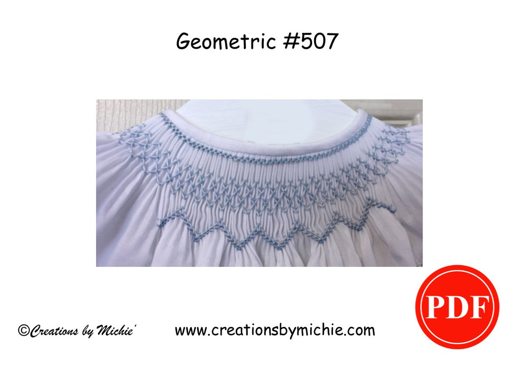 Printable Geometric Smocking Design – 507