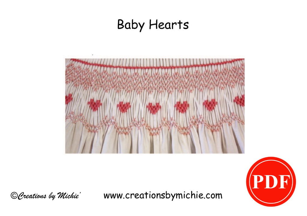 "Printable ""Baby Hearts"" Smocking Design"