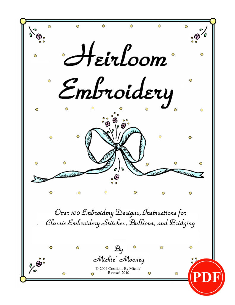 Heirloom Embroidery Book Printable