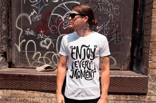 Enjoy Every Moment T-shirt Men Tshirt Male Fashion