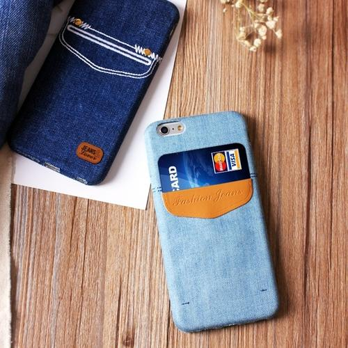 Jeans iPhone Case With Card Pocket - Visit www.5iento.dk