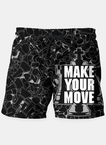 Make Your Move Chess Shorts Beachwear - Order online www.5iento.dk