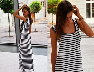 MAXI Dress in Sailor Stripes - Visit www.5iento.dk