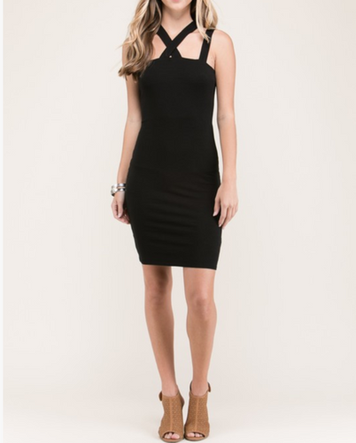 Scarlett - Black Strappy Mini Dress Dresses - Order online www.5iento.dk