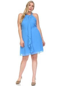 Women's Beaded Neckline Chiffon Dress Dresses - Order online www.5iento.dk